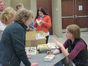 Seabrooke signing books