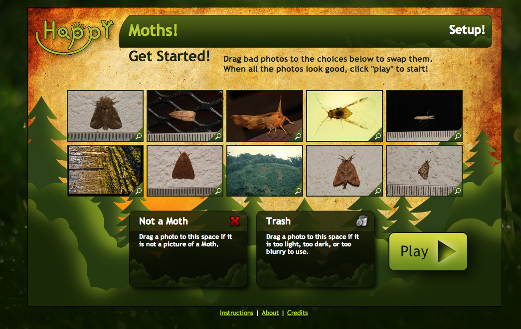HappyMoth Matching Game