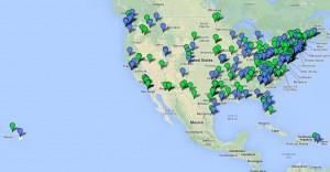 US mothing map