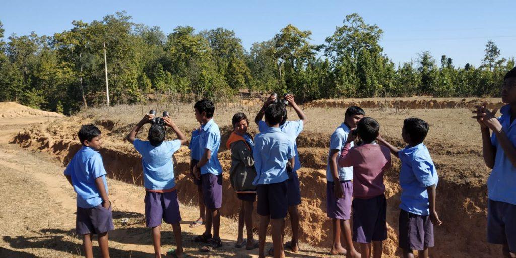 Bird Watching organized for tribal kids